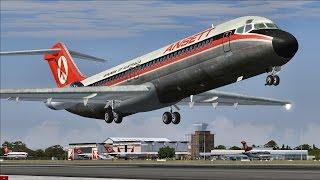 Полёт на McDonnell Douglas DC-9. FSX.