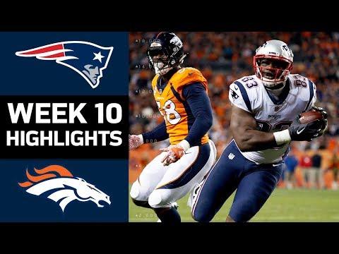 Patriots vs. Broncos | NFL Week 10 Game Highlights