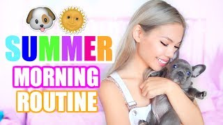 My Summer Morning Routine! with My NEW Puppy! 🐶🌞