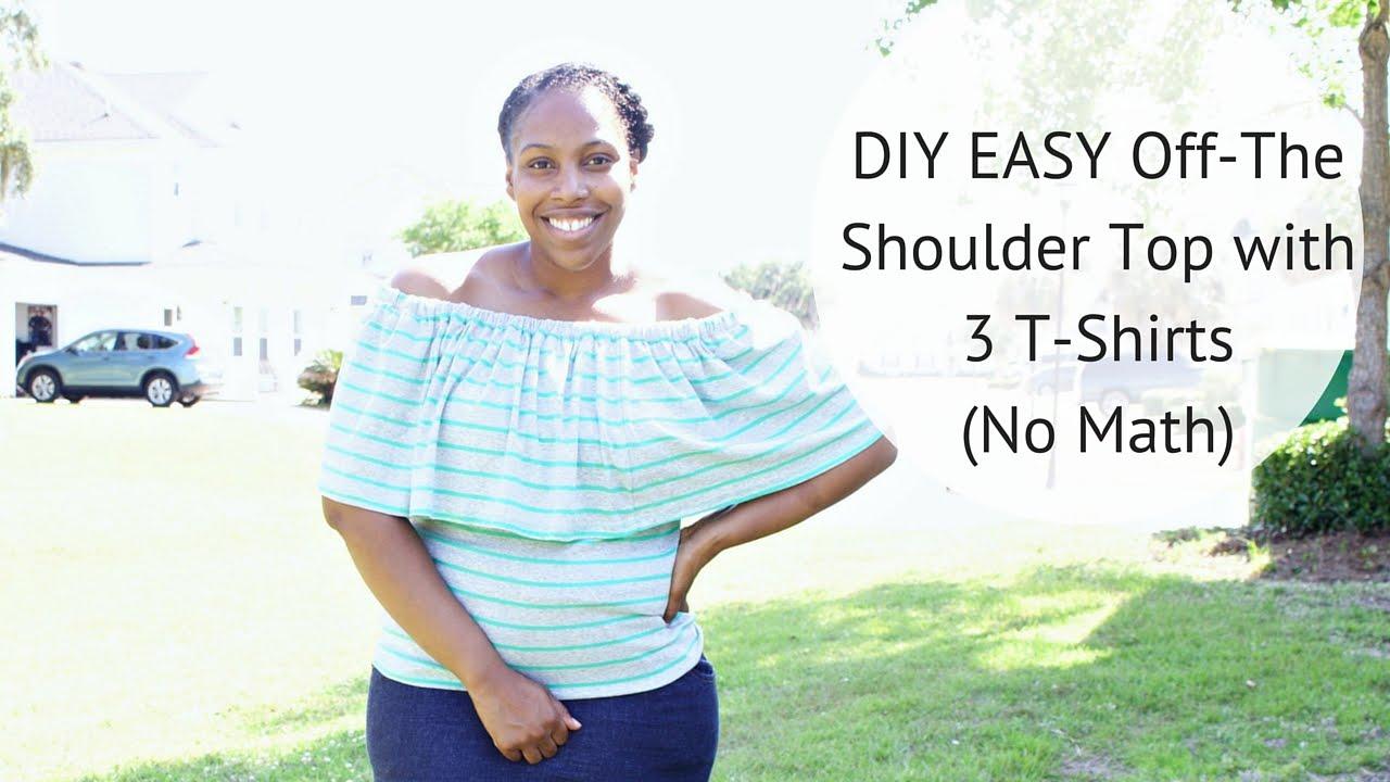 Diy off the shoulder top easy