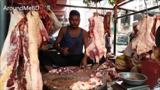 Beef Market | Muslim Bazar Cow Meat Processing Dhaka Bangladesh