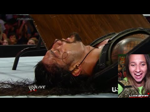 WWE RAW 8/4/14 Roman Reigns vs Kane LAST MAN STANDING Live Commentary