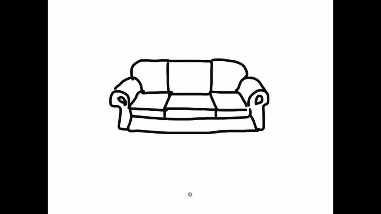 Chair Cartoon Drawing Ipad Draw a Simple Cartoon