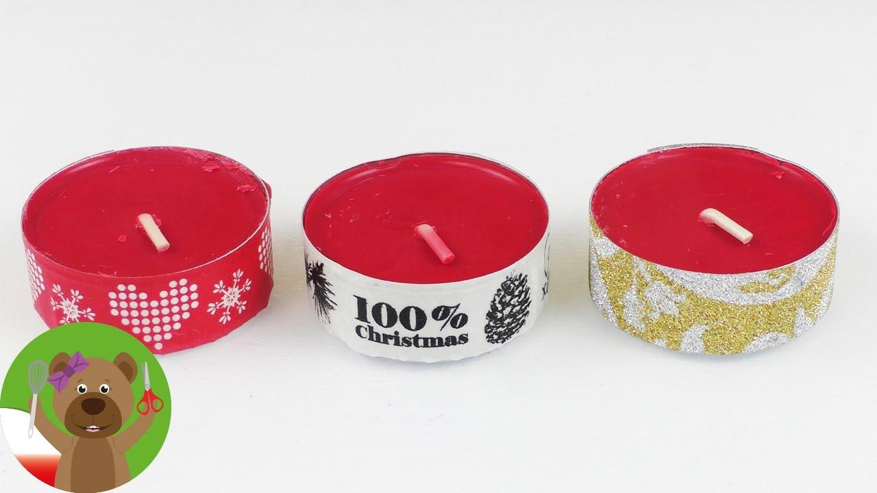 Pomysł na ozdabianie świeczek | wkłady do świeczek i washi tape | pomysł na adwentową dekorację