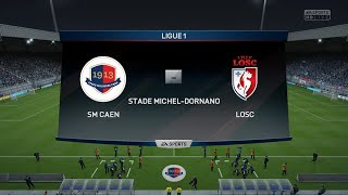 SM Caen - Lille OSC FIFA 16 | Ligue 1 2015-2016 17ème Journée | CPU Vs CPU