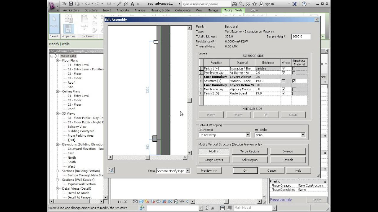 Revit Vertically Compound Wall Adding Splits And Layers