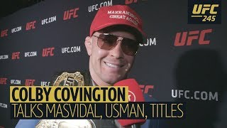 """He is a loser!"" Colby Covington roasts Masvidal, mocks BMF belt, praises Trump, laughs off Usman"