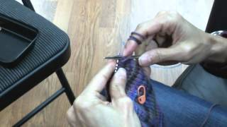Toe-Up Socks on Circular Knitting Needles - Turning the Heels (Part 3 of 5)