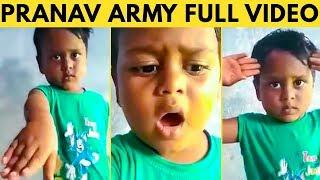 FULL VIDEO : சங்கமே வேணாம் சாப்பாடு தான் வேணும்  MARANA MASS  ஆன சுட்டி பையன் #pranav Army