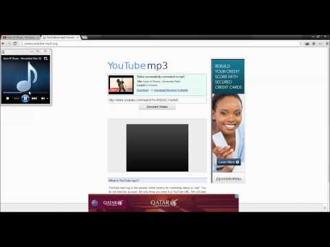CONVERT YOUTUBE VIDEOS TO MP3 AUDIO FILES