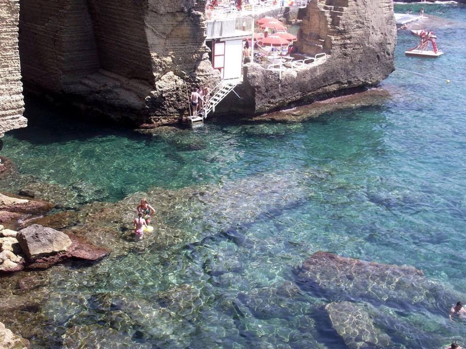 Drone tour of santa cesarea terme archi beach by luxury b b tana del riccio in puglia southern - Bagno 19 santa cesarea terme ...