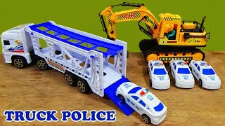 """Kids Toy Cars """"Unboxing Police Truck Cars and 4 Mini Police Cars"""""""