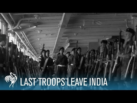 Last Batch Of Troops Leave India (1948)