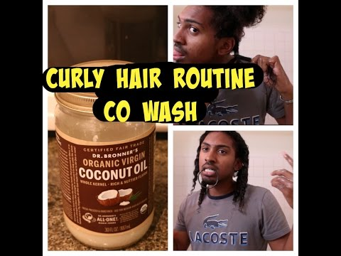 CO WASH ROUTINE: HOW TO MEN'S CURLY HAIR