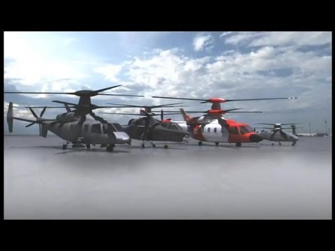 Sikorsky - S-97 Raider X2 Technology Family Of Helicopters SAR & Combat Simulation [360p]