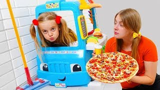 Kid Pretend Play with Food Truck Toy