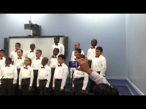 Newark Boys Chorus School: Apprentice Chorus -  December `12 dress rehearsal  part 4