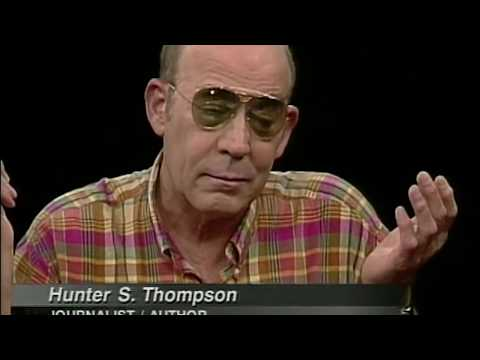 Hunter S. Thompson interview on Charlie Rose (1997)
