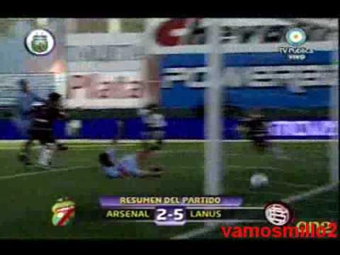 Arsenal 2 Lanus 5 - Torneo Apertura 2009