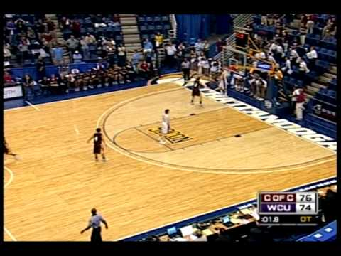 Western Carolina Lady Catamounts last second play SoCon Tournament Video