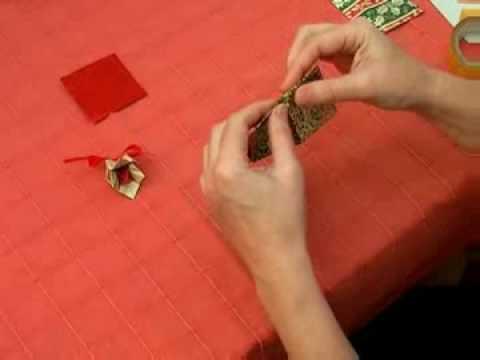 Hogyan hajtogassunk karácsonyi csengőt?