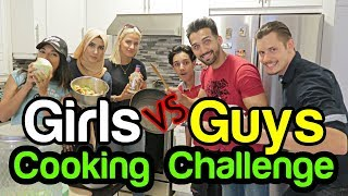 GUYS VS GIRLS - $20 Cooking Challenge