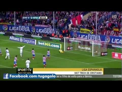 (11/04/2012) HD Atletico Madrid vs Real Madrid 1-4 All Goals & Highlights CRISTIANO RONALDO GOALS