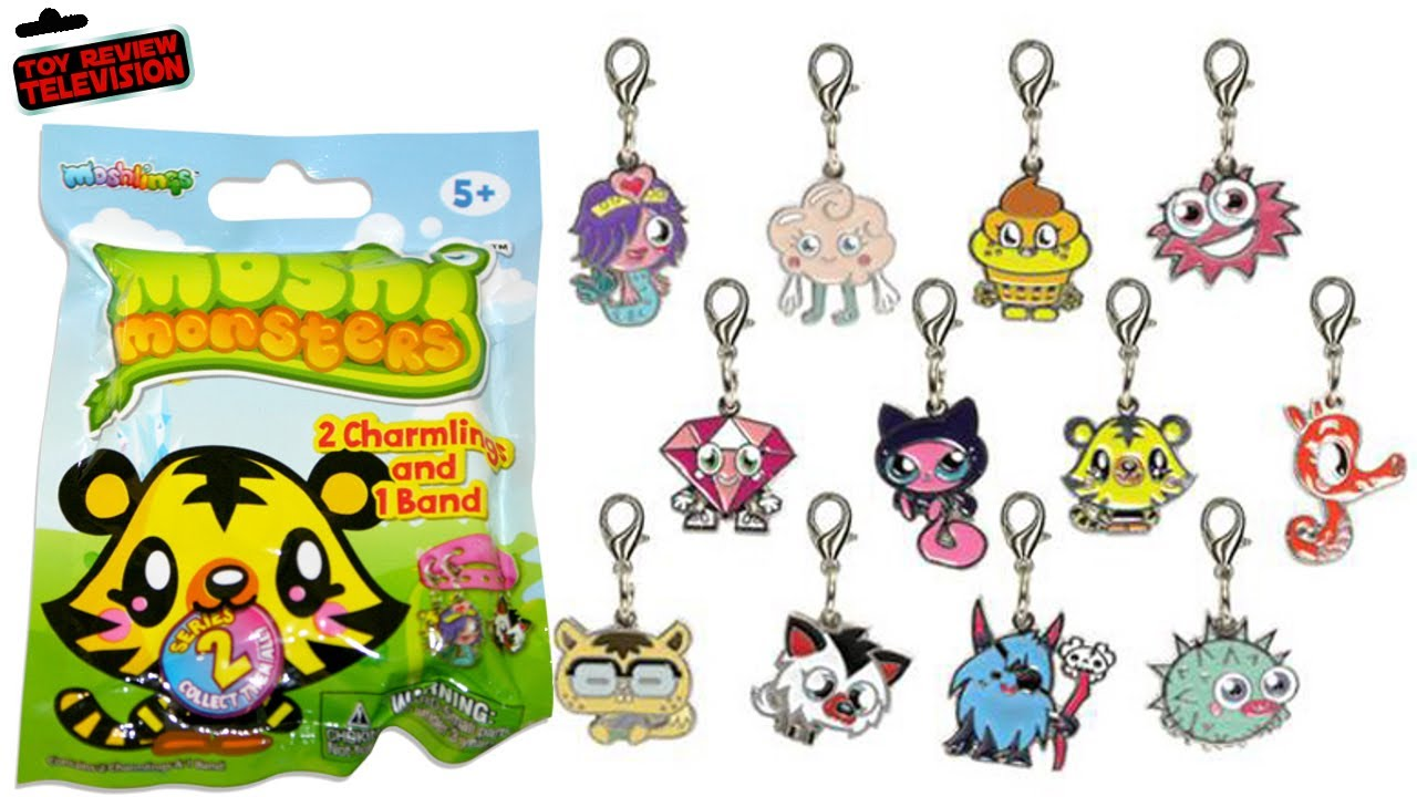Moshi monsters charmlings series 2 blind bags toy review opening