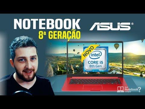 Notebook Asus 2018 processador 8ª geração Intel Core - Linha Vivobook
