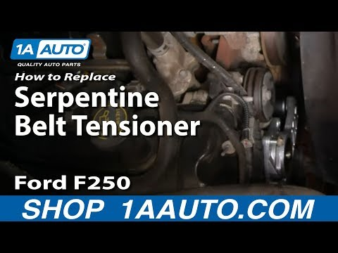 How To Install Replace Engine Serpentine Belt Tensioner 99-07 Ford F250 5.4L 1AAuto.com