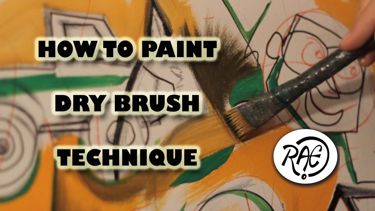 How to paint with acrylic paints learn dry brush technique for How to learn to paint with acrylics