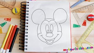 How to Draw Mickey Mouse StepbyStep Drawing Tutorial
