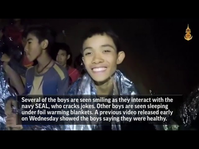 Video Shows Medic Treating Boys In Thai Cave