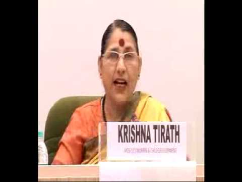 Smt. Krishna Tirath , WCD Minister addresses National Editors' Conference-Part1