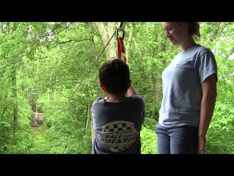 Isaac on zip Line