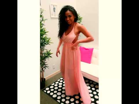 Kami Shade' Goddess Pink Chiffon Maxi Dress Review