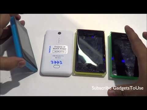 Nokia Asha 500 VS 501 VS 502 VS 503 Hands on Comparison Review