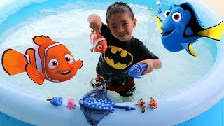 Finding Dory And Nemo Swimming Toy Fish Kids Inflatable Pool Fun With Ckn Toys