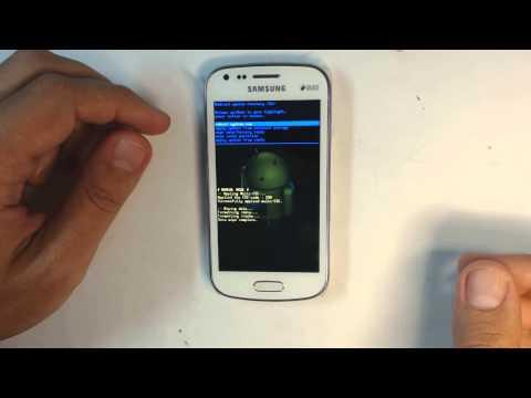 Samsung Galaxy S Duos S7562 - How to reset - Como restablecer datos de fabrica