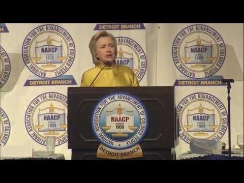 Hillary Clinton keynotes Detroit's NAACP dinner