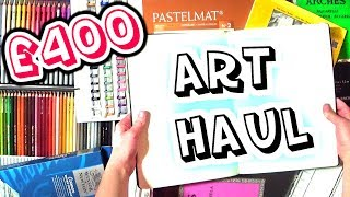 £400 HUGE ART SUPPLY HAUL - Sketchbooks, Watercolours, Pastel Pencils + MORE