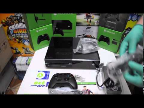 X1 Распаковка Xbox One Day One Green Box Unboxing Российская версия