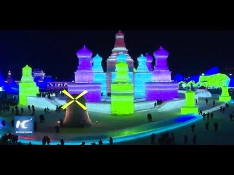 Divertido y hermoso festival de hielo en Harbin, China