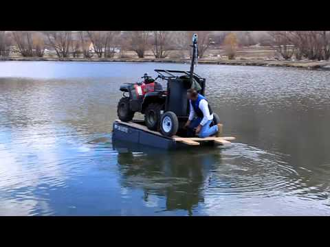 ATV floats on small boat