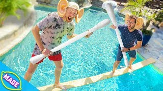 DON'T Fall off the Plank into the Pool *Jousting Challenge!*