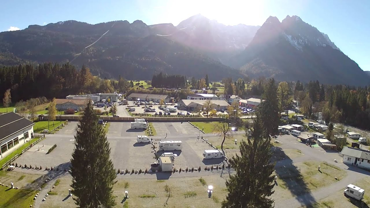 Campingplatz Grainau Koptervideo - Garmisch Zugspitze - YouTube