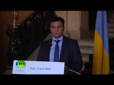 Point de presse conjoint de Laurent Fabius et Pavlo Klimkine