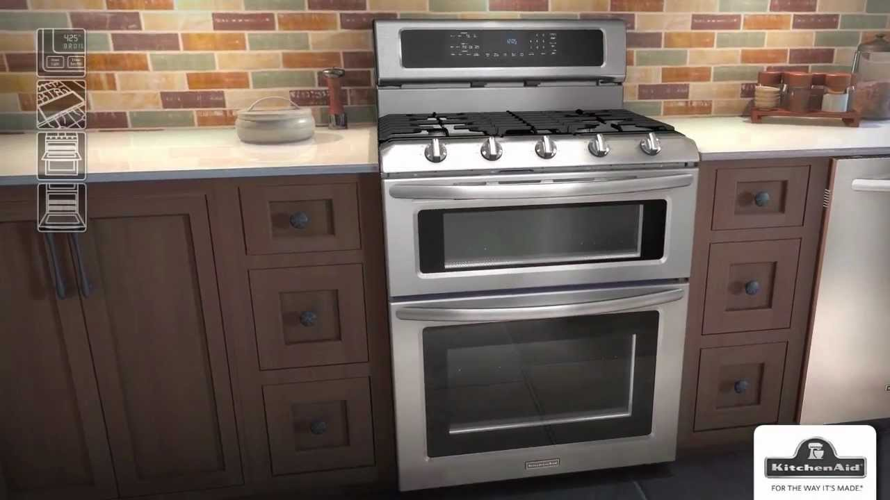 Estufas con horno doble kitchenaid youtube for Estufas con horno economicas