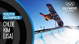 Chloe Kim - This girl has incredible Snowboad-skills!  Youth Olympic Games