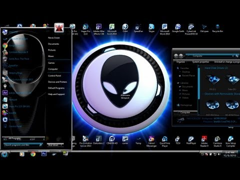 Windows 7 Theme - Alienware skinpack